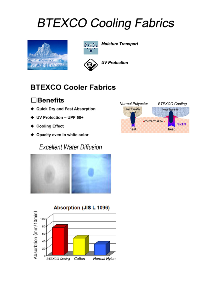 cooling fabric, cooler fabric